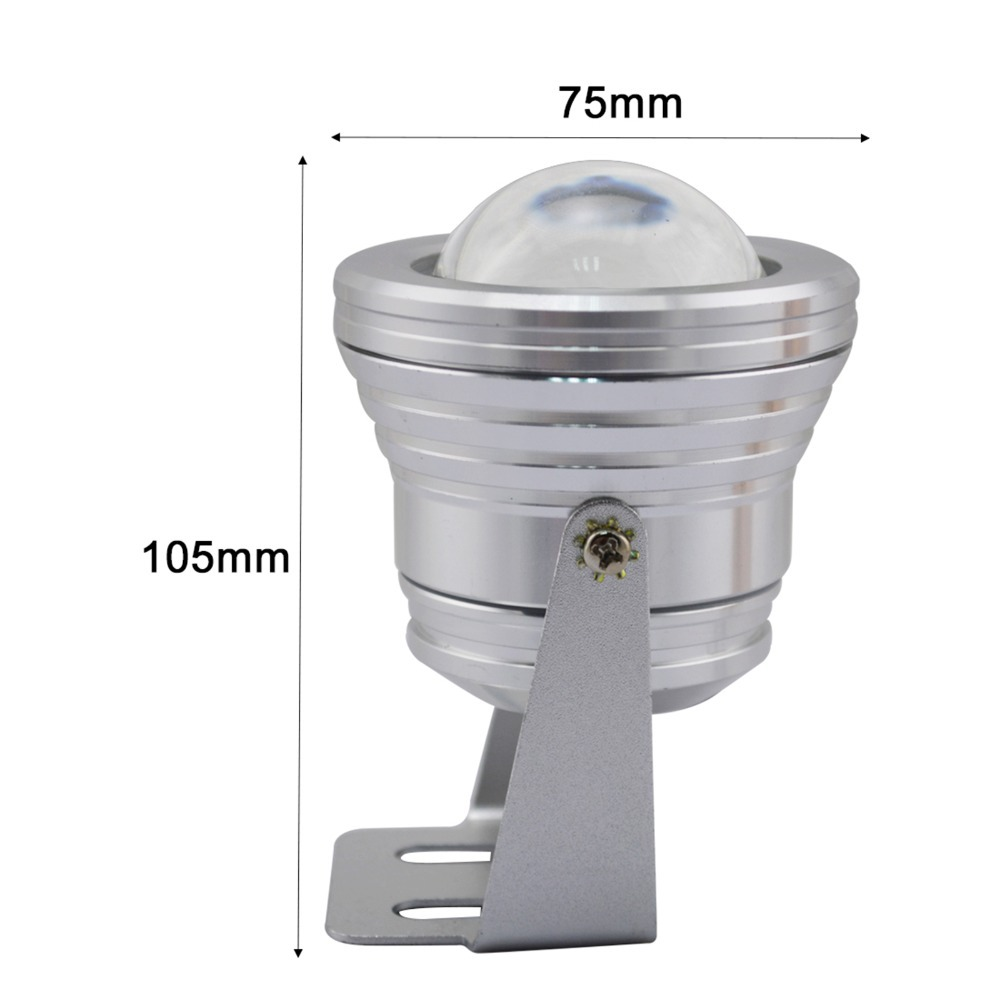 IP67 1000LM 10W RGB LED Underwater Fountain Light Spotlight Timing Pool Pond Fish Tank Aquarium LED Light Lamp with Plug