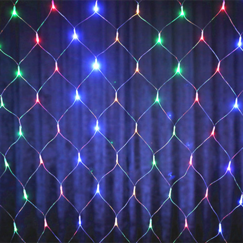 YIYANG 2*2m 144 LED Net Light Red de la Lampara Christmas Lights Wedding Party Decoration Outdoor LED Lighting Waterproof