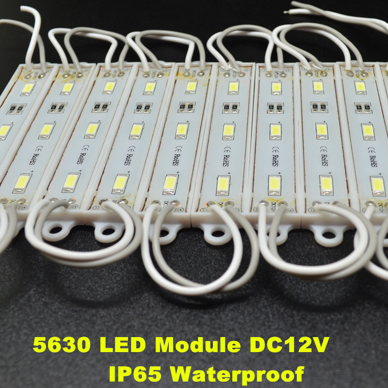 Waterproof SMD 5630 LED light module LED backlight LED module white(6000K) DC12V 1.5W 3 led 45lm/led shipping free