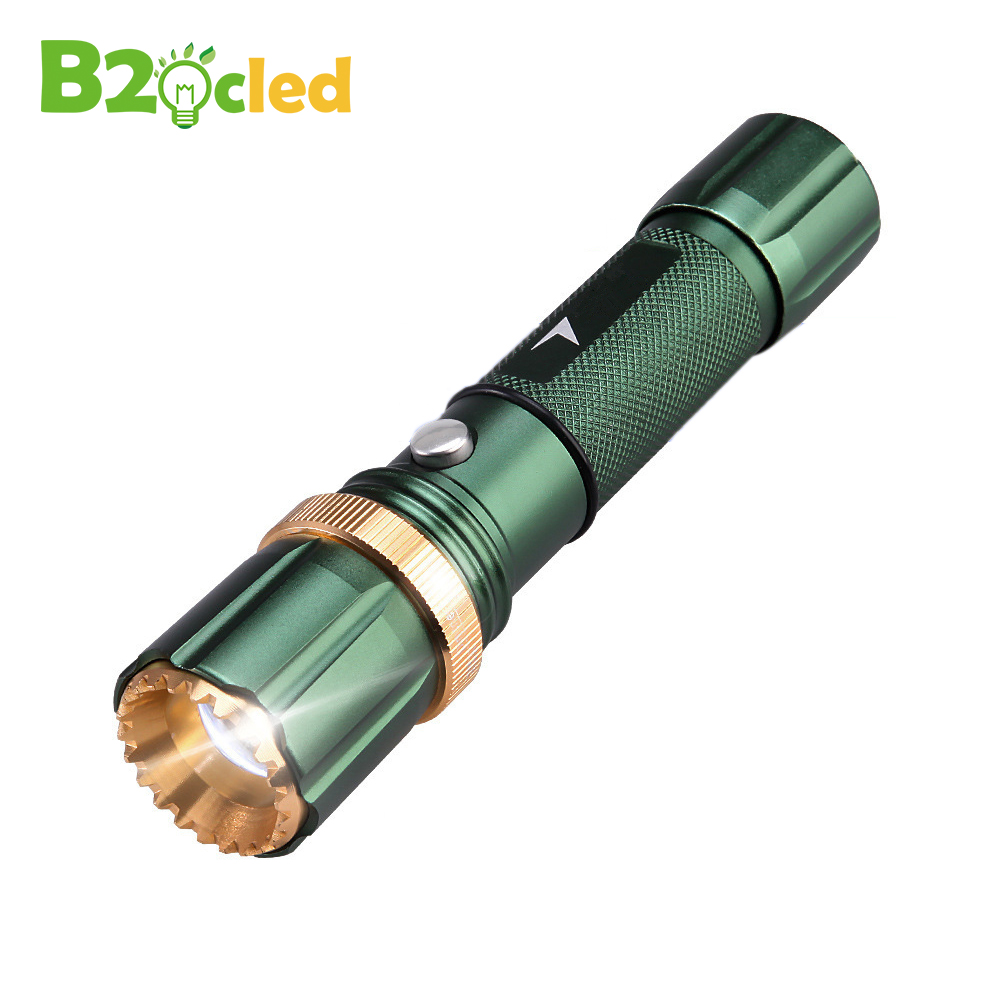 Zoom LED flashlight LED 6000LM Cree Q5 flash light 3 mode Zoomable Focus Torch light for 18650 rechargeable battery or 3*AAA