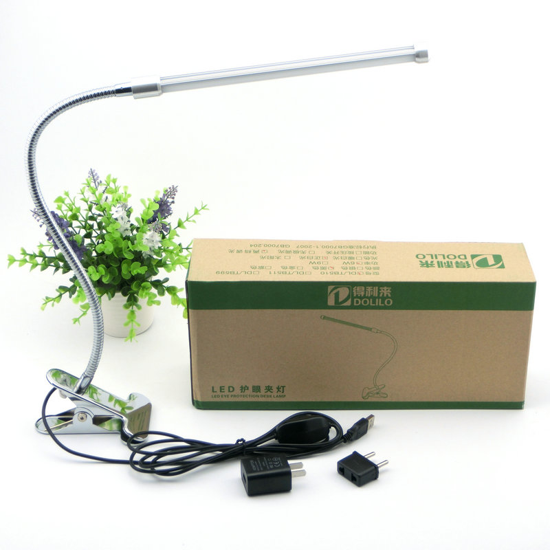Led Eye protection Two levels brightness switch dimmer reading table Desk Lamp with metal Clip ,1pcs/lot