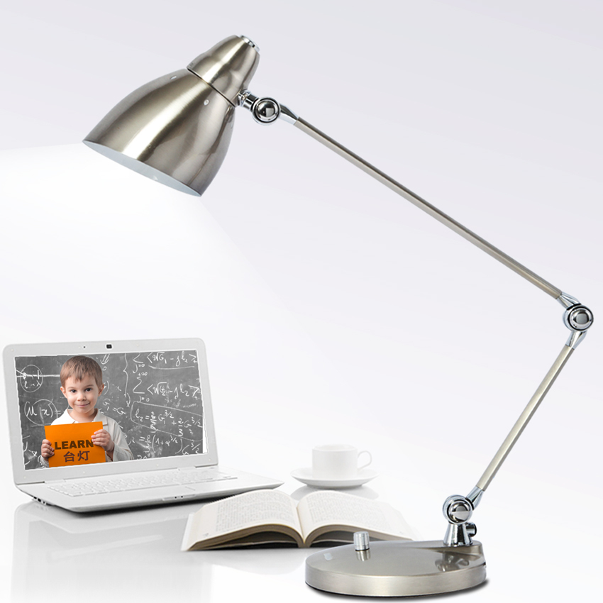 Metal touch dimming long arm folding brief led eye lamp/office desk lamp