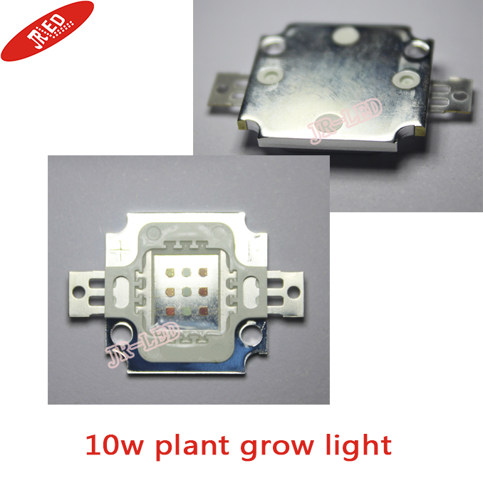 2pcs 10W Plant Grow LED Light 6 Red(660nm)+3 Royal Blue(455nm) Integrated High power LED For Hydroponic LED light lamp