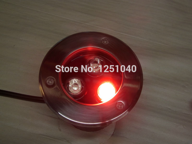 Auto Change Color RGB 3W Outdoor Underwater LED Light 12V Waterproof