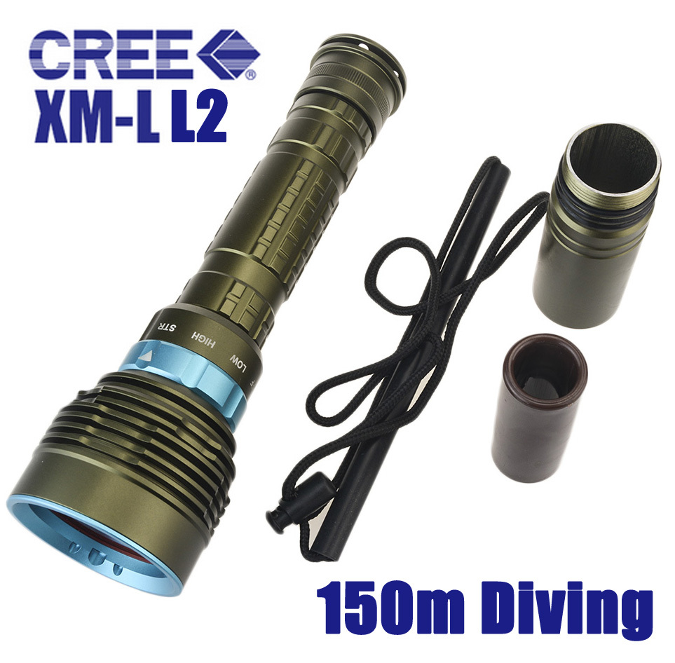 Skyray DX7 LED Diving Flashlight 7 x CREE XM-L L2 14000 Lumens 150m Underwater Scuba Diver Lanterna Torch Power By 18650 26650