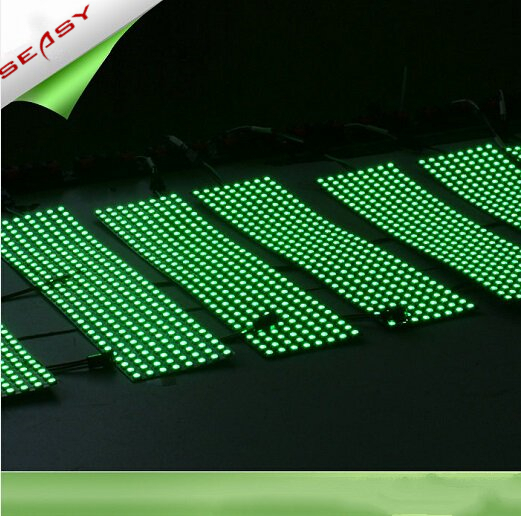 8*32 256LEDs WS2812B LED Flexible Pixel Screen,DC 5V RGB full color SMD WS2811 Built-in control For Advertisement