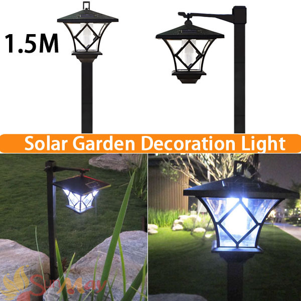 Height 1 5m Led Solar Lawn Lamp Outdoor Light Landscape Garden Ed