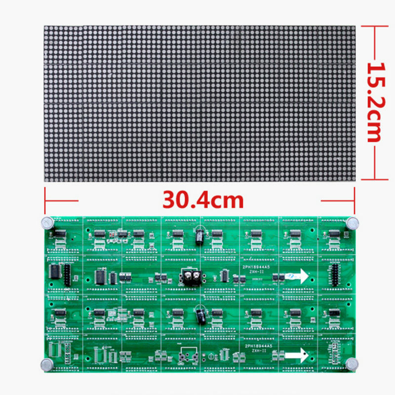 A Indoor F3.75 P4.75 Single Red color LED dot matrix module 304*152mm 64*32 pixels for LED sign Board led DISPLAY MODULE