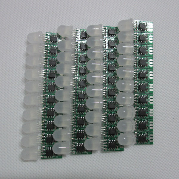 50pcs 5V 12mm WS2811 IC led Pixel node Module Light No Wire Addressable led lamp chips