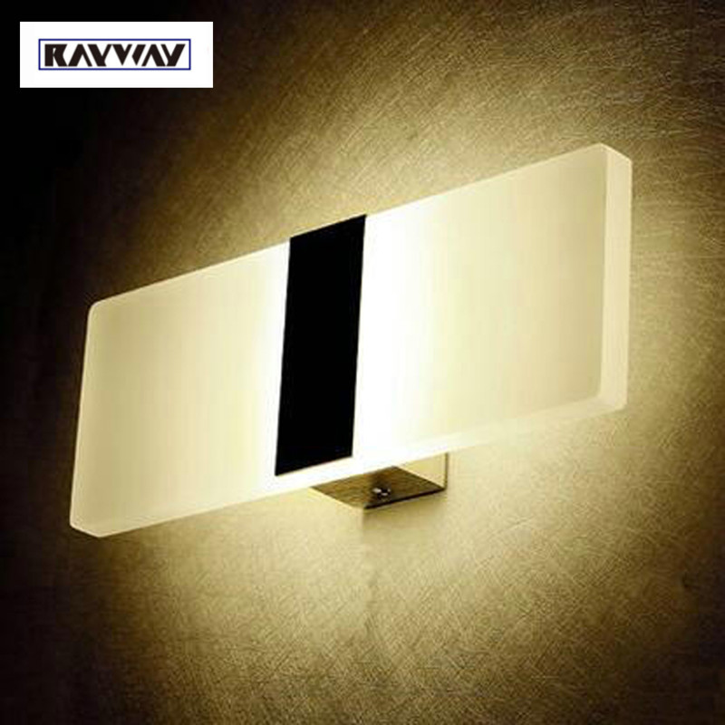 RAYWAY LED wall light 3W 6W 12W Modern wall lamp AC 85-265V brief Personalized living sitting room foyer bedroom wall led lights