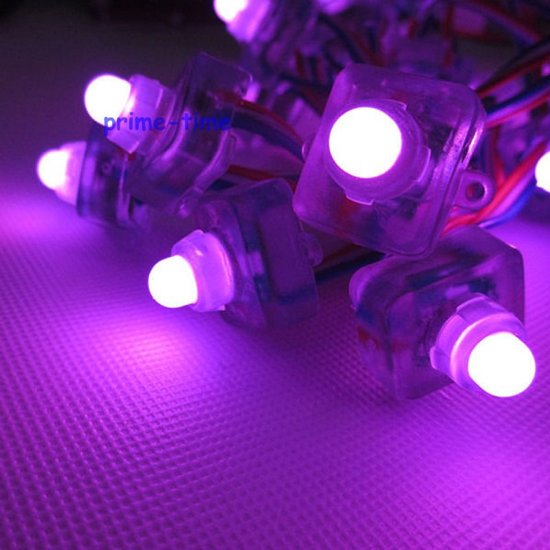 5v ws2801 IC 12mm square shape led pixel module led string,waterproof full color rgb ,50pcs ws2801 ic control control 50 pixels
