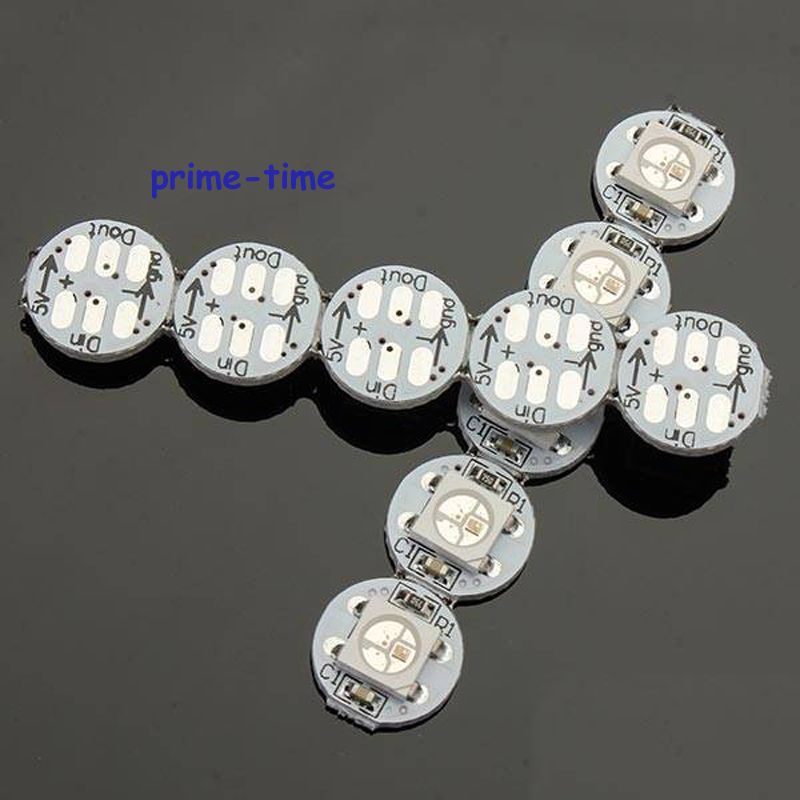 10pcs 5V WS2812B 5050 SMD RGB LED Chip Built-in WS2811 IC Addressable with mini PCB board (10mm*3mm) Heatsink