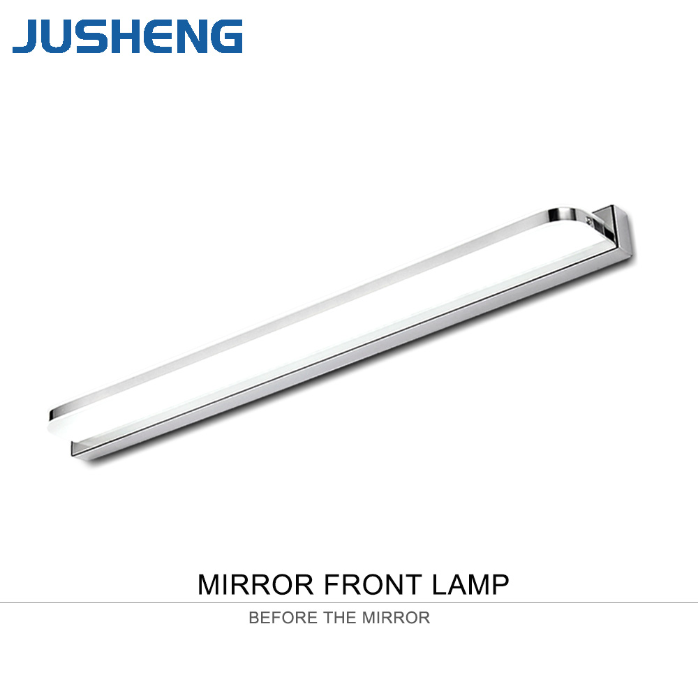 JUSHENG Modern LED Bathroom Lamps Round Acrylic Top Mirror Lights 14W 62CM 110-240V AC