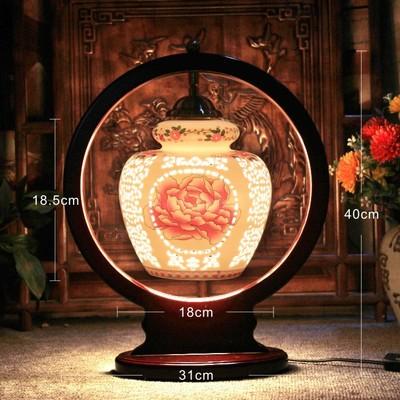 Led E27 110v 220v Chinese Style Antique Table Lamp Jingdezhen