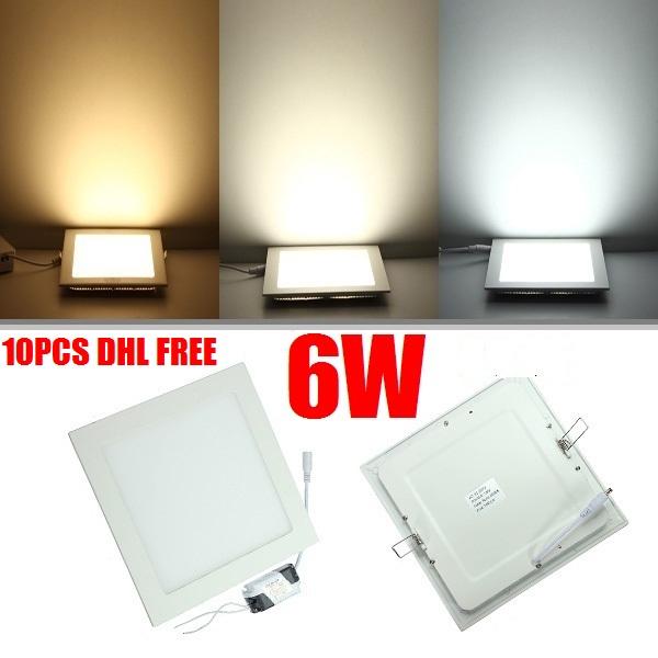 Dhl Free Ship 10pcs Lot High Quality 6w Led Panel Light Led