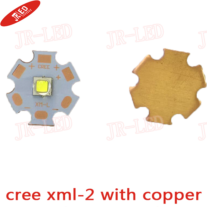 2 PCS CREE XML2 LED XM-L2 T6 U2 10W WHITE Neutral White Warm White High Power LED Emitter with 12mm 14mm 16mm 20mm PCB for DIY