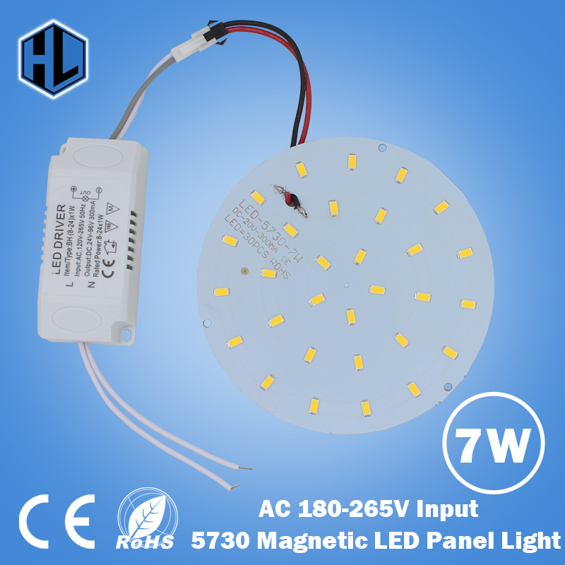 100pcs 180-265V LED Panel Lamp Round 10W 15W 18W 21W 25W 35W 45W 5730 Magnetic LED Ceiling Panel Light Plate Aluminium Board