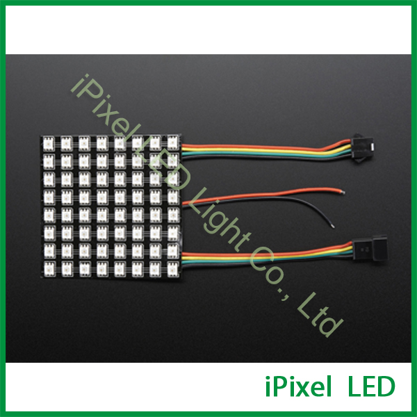 Flexible and bendable black strip APA102 led matrix 64leds