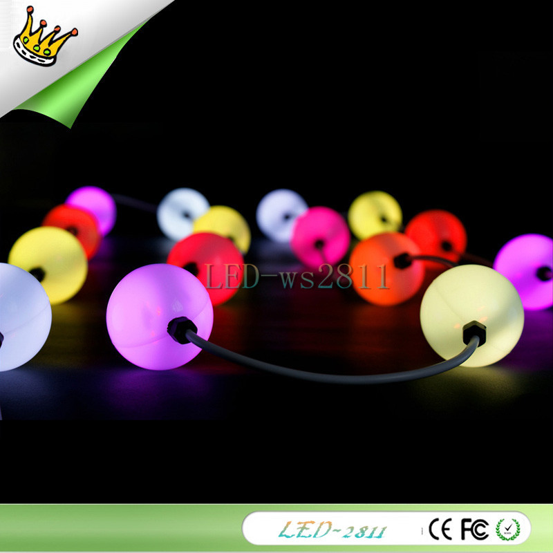 Fast shipping 100x 50mm Full Color Ball LED Pixel Module DC12V Double Side 5050 RGB + WS2811 IC