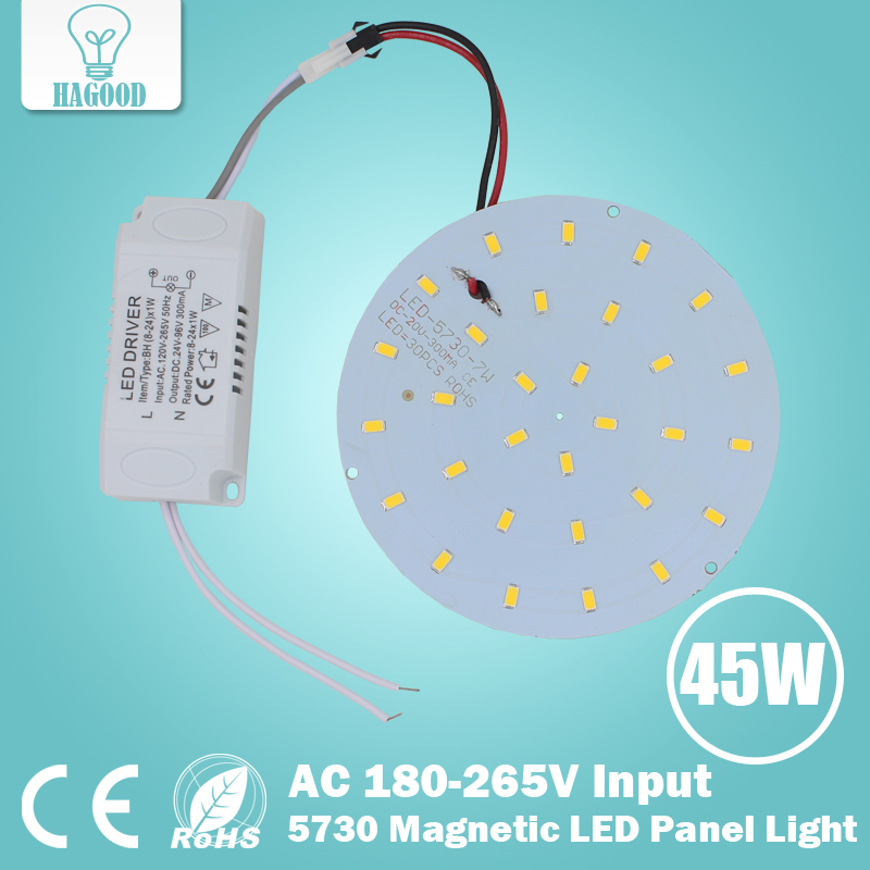 1set LED Panel Lamp 180-265V 10W 15W 18W 21W 25W 35W 45W 5730 Magnetic LED Ceiling Panel Light Aluminium Board for Home & Living