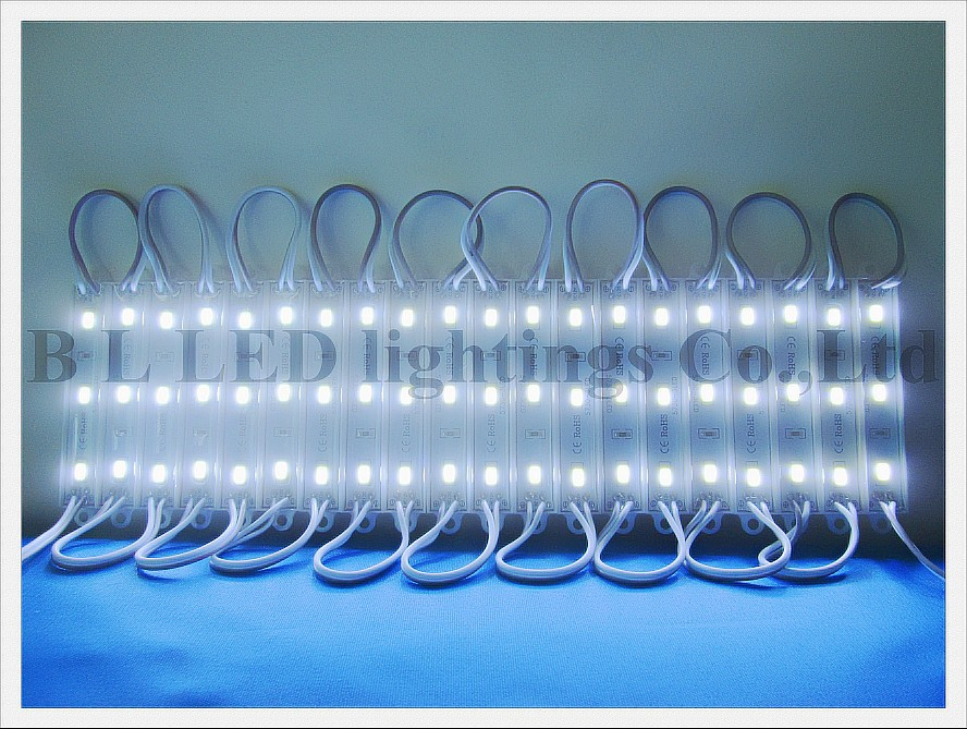 waterproof LED module light back lighting for sign DC12V SMD 5730 3led 3*0.35W 1W 100lm 3led/pcs 20pcs/string 3000pcs/lot CE