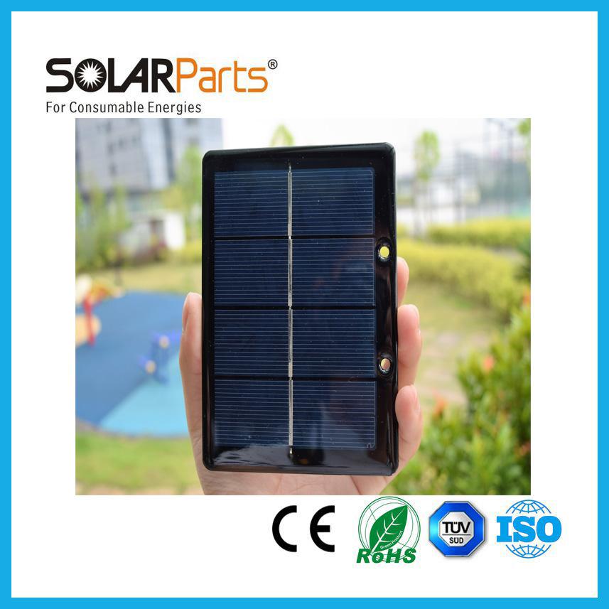 Solarparts 2pcs 2V 600mA 1 2W mini epoxy resin solar panels