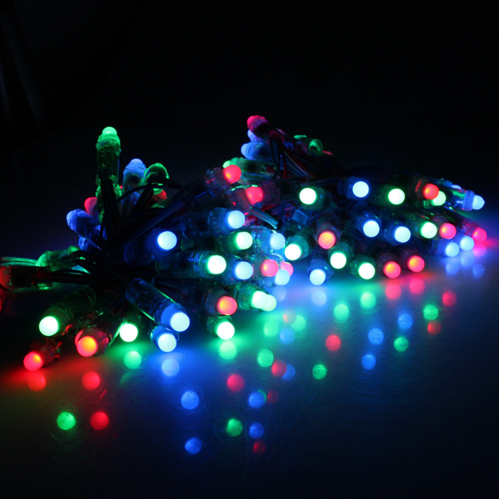 50pcs 12mm WS2811 Pixel LED Module IP65 Waterproof DC 5V Full Color RGB Addressable LED String Lights