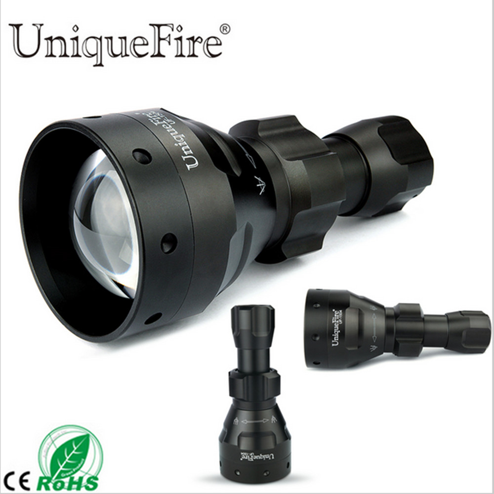UniqueFire UF-1504 CREE XM-L2 Flashlight 1200LM 5 Modes White Light LED Torch 67mm Convex Lens Aluminum Alloy Lamp Lanterne