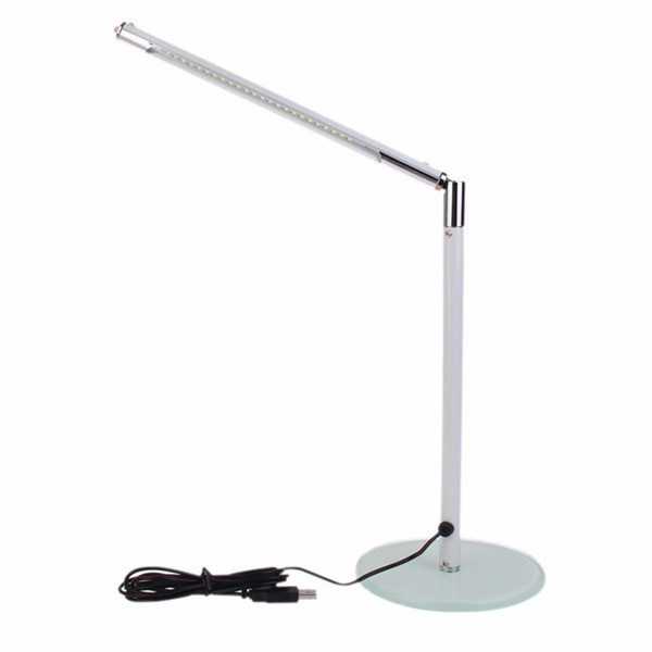 New-brand-Simple-24-LEDs-Desk-Table-Lamp-Toughened-Glass-Base-for-Home-Office-White-high