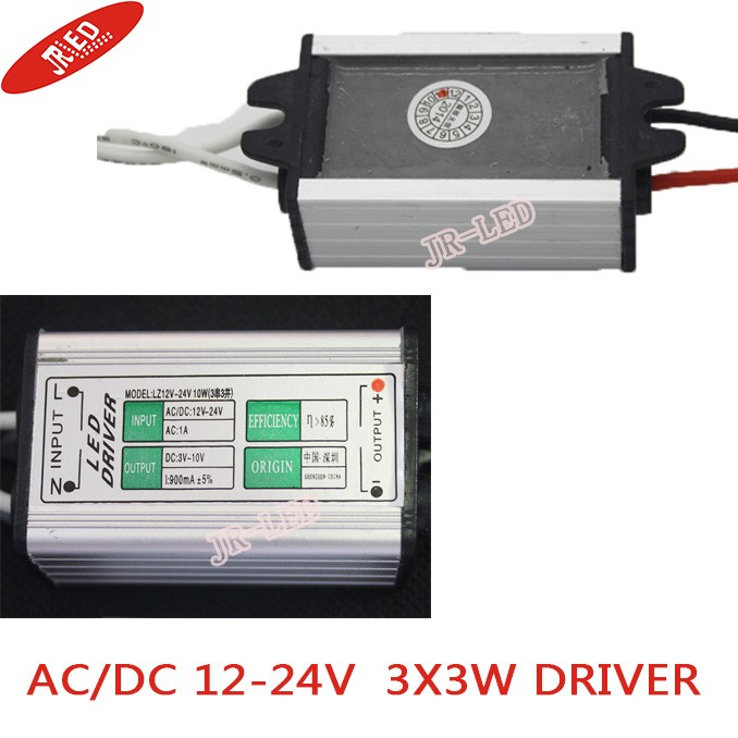 Freeshipping!   2pcs   10W Waterproof LED Driver1000ma   (12~24V / 3 Series and 3 in Parallel)