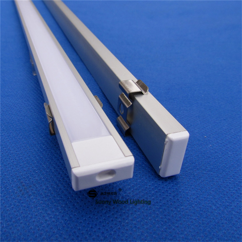 5pcs/lot 0.5m/pc  LED channel aluminum profile for 5050  led strip,milky/transparent cover for 12mm pcb with fittings CC-1607