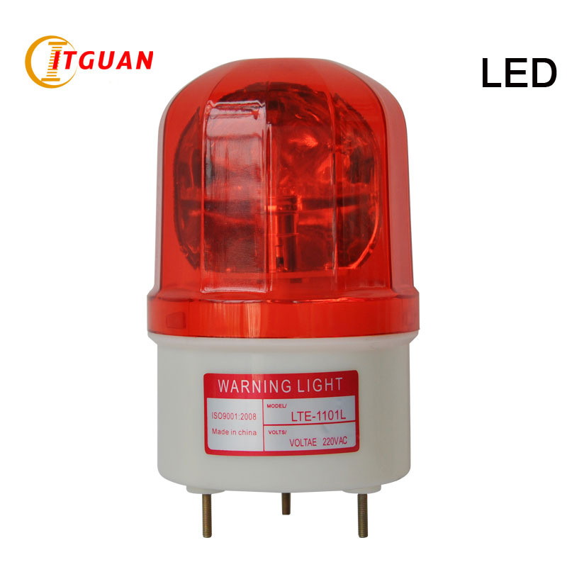 LTE-1101L DC/AC12V-380V LED Rotary Warning Lamp without Sound Visual Alarm warning light