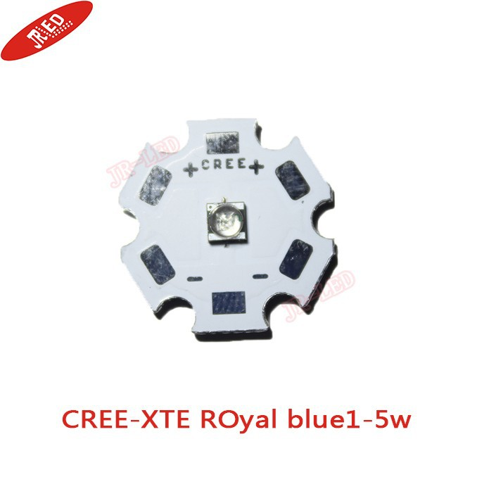 10pcs X Cree XTE XT-E 1-5W LED Emitter Warm White 3000-3200K;  Royal Blue 450-452nm LED with 20MM PCB