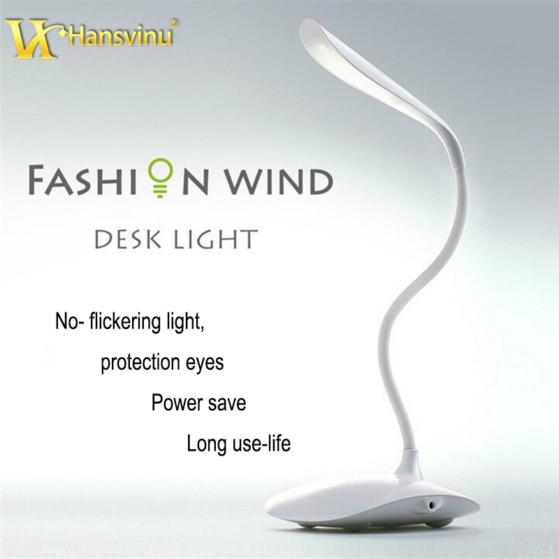 LED Desk Lamps Children Eye Protection Student Study Reading Table Lamp Adjustable Lights Foldable Rechargeable Night Light