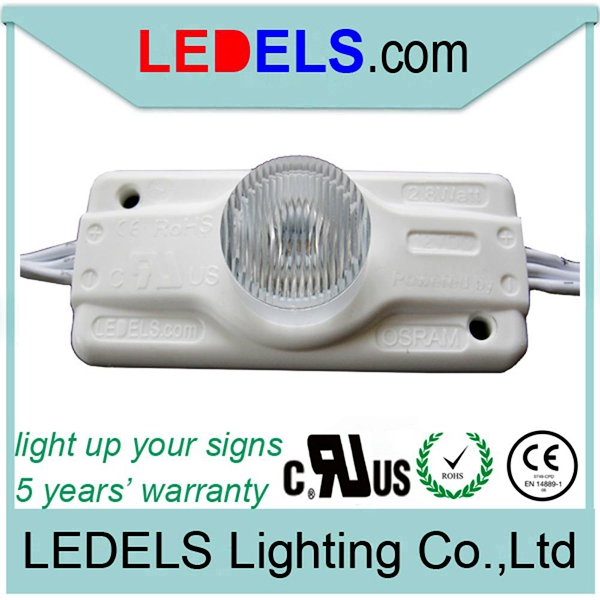 300pcs/lot cUL listed led modules high power 12V 2.8W Osram edge lighting led modules 12V for lightbox signs