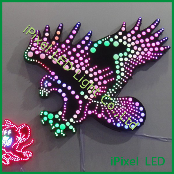High quality 5050 smd led camaleon rgb led pixel 35mm for amusement rides