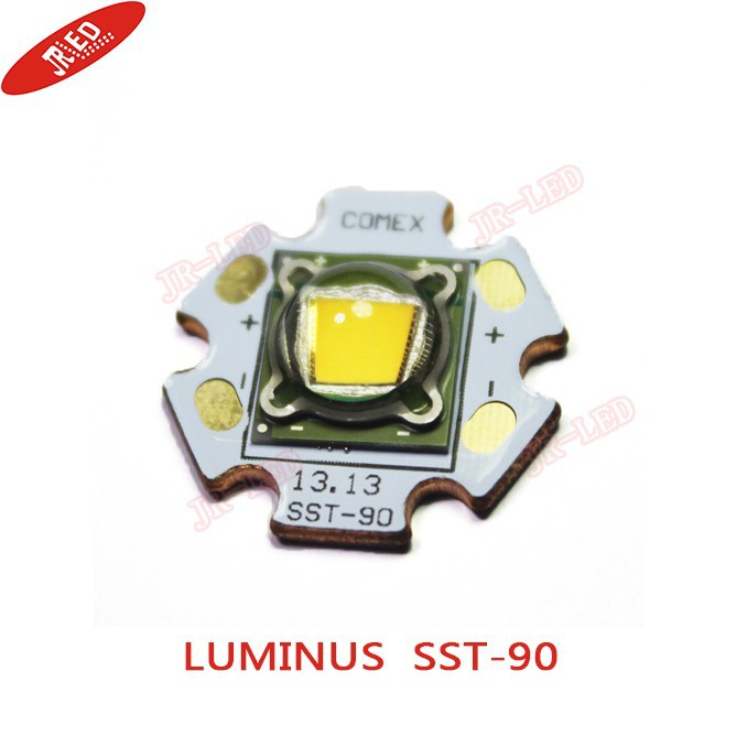 1PCS Luminus SST-90 30W LED Emitter 2250LM WHITE 6500K BLUE 460NM Warm White 3000K Module PCB 20mm Copper For DIY Flashlight Tor