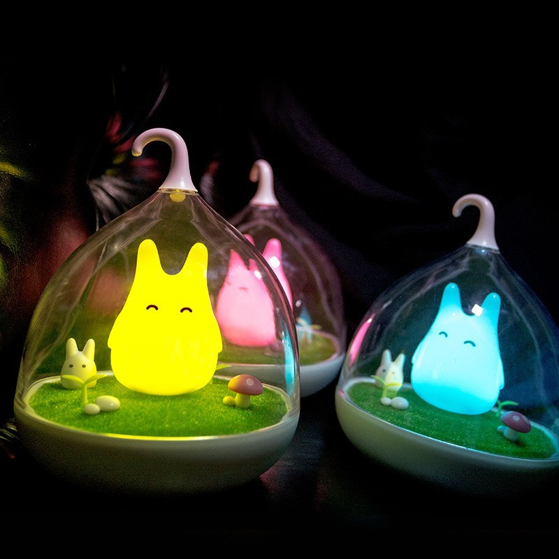 Promotion!!! 2016 Newest Style The Totoro Portable Touch Sensor USB LED Baby Night Light Bedside Lamp For Children Gifts