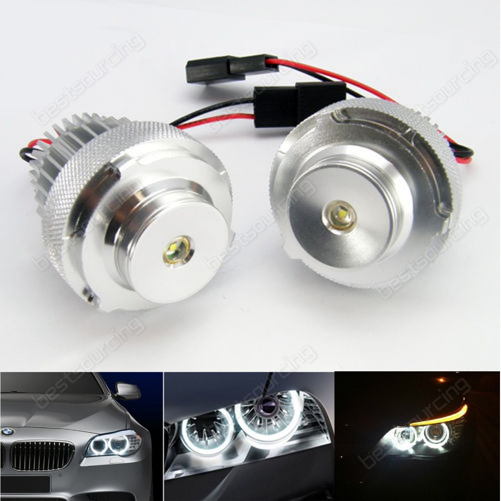2X10W LCI HeadLight 20W CREE LED Marker Angel Eyes for 5 Series E60 E61 LCI with Halogen H7(CA197)