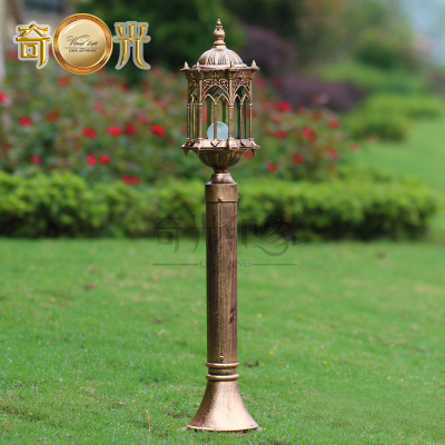 H115CM Europe bronze cottage garden lawn pole lamp aluminum+glass waterproof outdoor backyard pole lighting E27 bulb 220V/110V