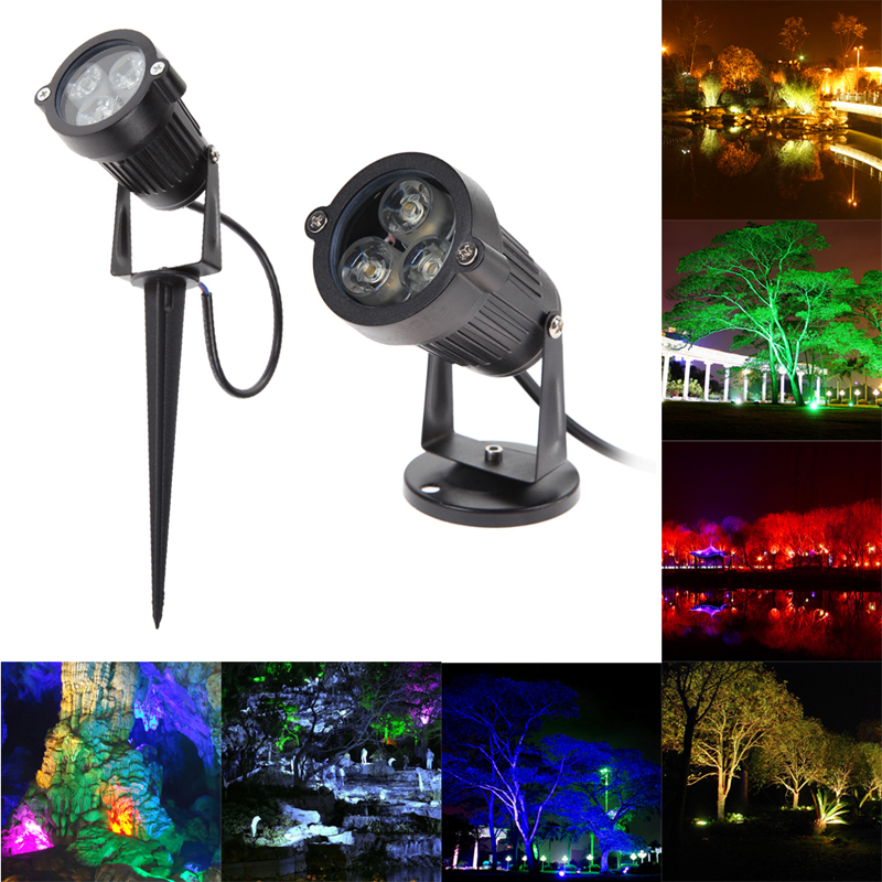 Top Quality 9W LED Lawn Light Lamp 12V Outdoor Waterproof IP65 Lawn Spot Lighting  With Pin Create a Unique Atmosphere for Party