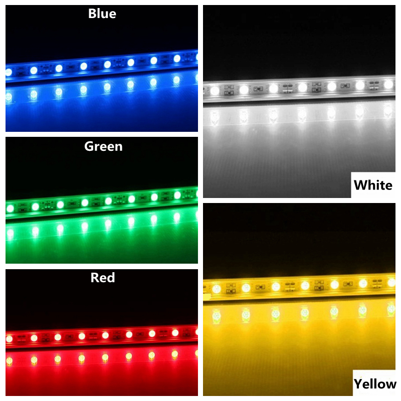 100pcs led bar strip light SMD 5050 72leds/meter led rigid lights for Counter lighting show case commercial decoration