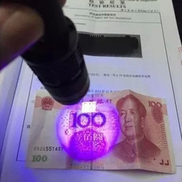 Mini LED Torch Fluorescent agent detection UV 395nm led 3-Mode ZOOM Flashlight torch lamp purple violet light For 18650 battery
