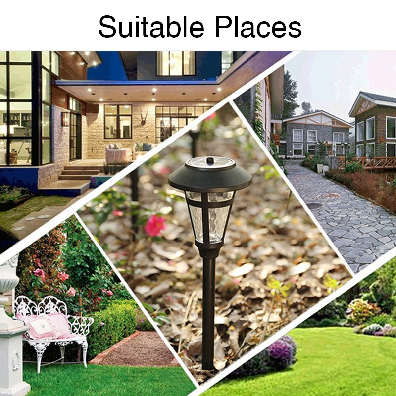 TRANSCTEGO LED solar lawn lamp outdoor solar lamp for garden decoration waterproof landscape street courtyard pathway lights