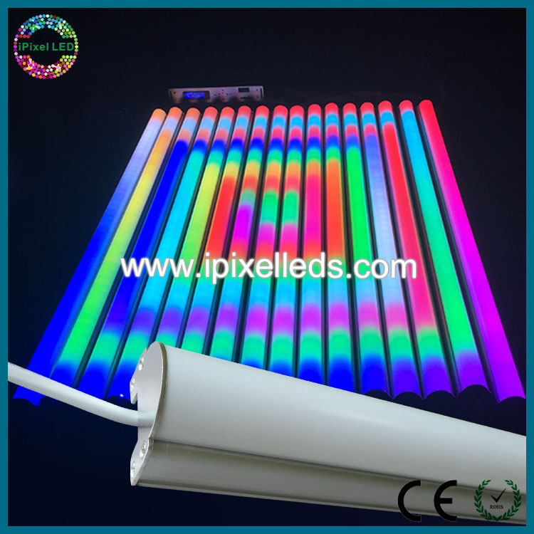 Madrix control music activated led RGB dmx tubes, stage lighting