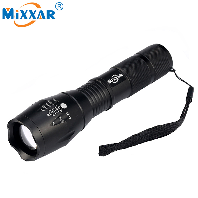 ZK35 Powerful Waterproof LED Flashlight Portable LED Camping Diving Lamp Torch Lights Lanternas Self Defense Tactical Flashlight