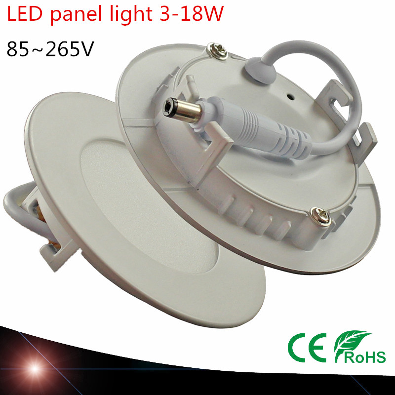 10X Ultra thin LED Panel Light SMD2835 3W 4W 6W 9W 12W 15W 18W AC 85-265V Round Lighting LED Downlight