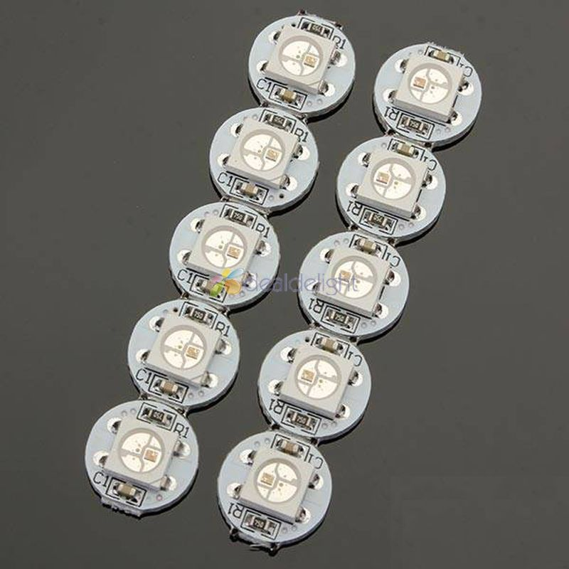 100pcs 5V WS2812B 5050 SMD RGB LED Chip Built-in WS2811 IC Addressable with mini PCB board (10mm*3mm) Heatsink