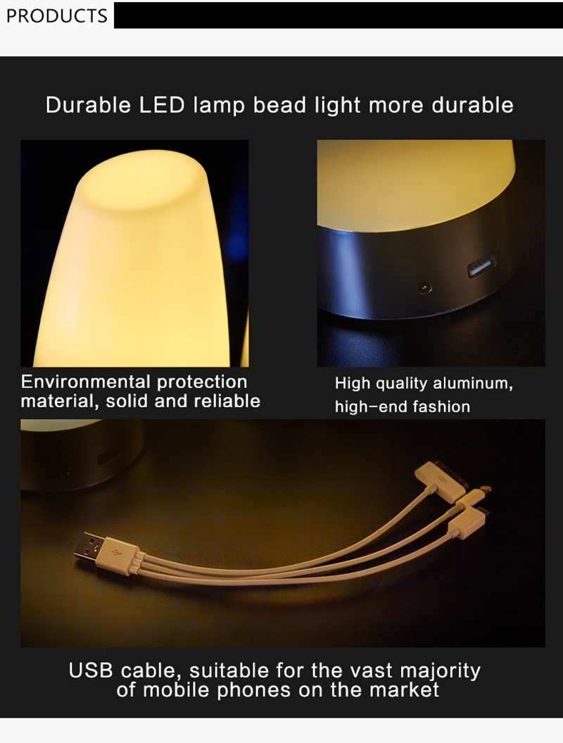 Bar table lamp led rechargeable lamps Creative desk lamp glowing candles small night lamp charging treasure to customized