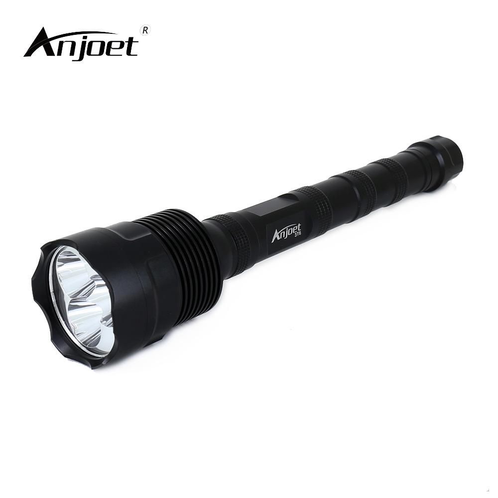 Anjoet 6000lm Flashlight Led Xm-l T6 Torch Zoomable Focus Tactical Flashlight Camping Light Lamp+2x18650 Battery+charger Led Flashlights